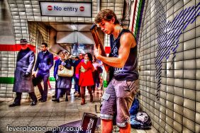 Busking underground - http://feverphotography.co.uk